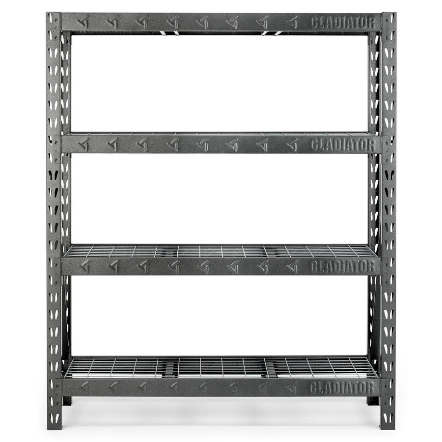 Shop Gladiator 72 In H X 60 In W X 18 In D 4 Shelf Steel