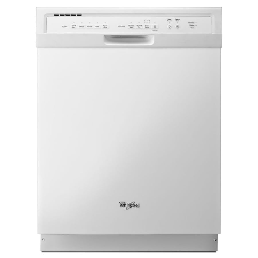 Whirlpool 54-Decibel Built-in Dishwasher (White) (Common: 24-in; Actual: 23.56-in) ENERGY STAR