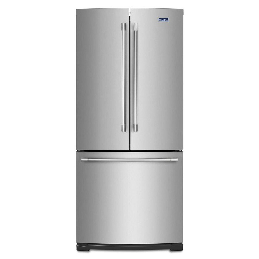Superieur Maytag 19.7 Cu Ft 3 Door French Door Refrigerator With Ice Maker  (Fingerprint