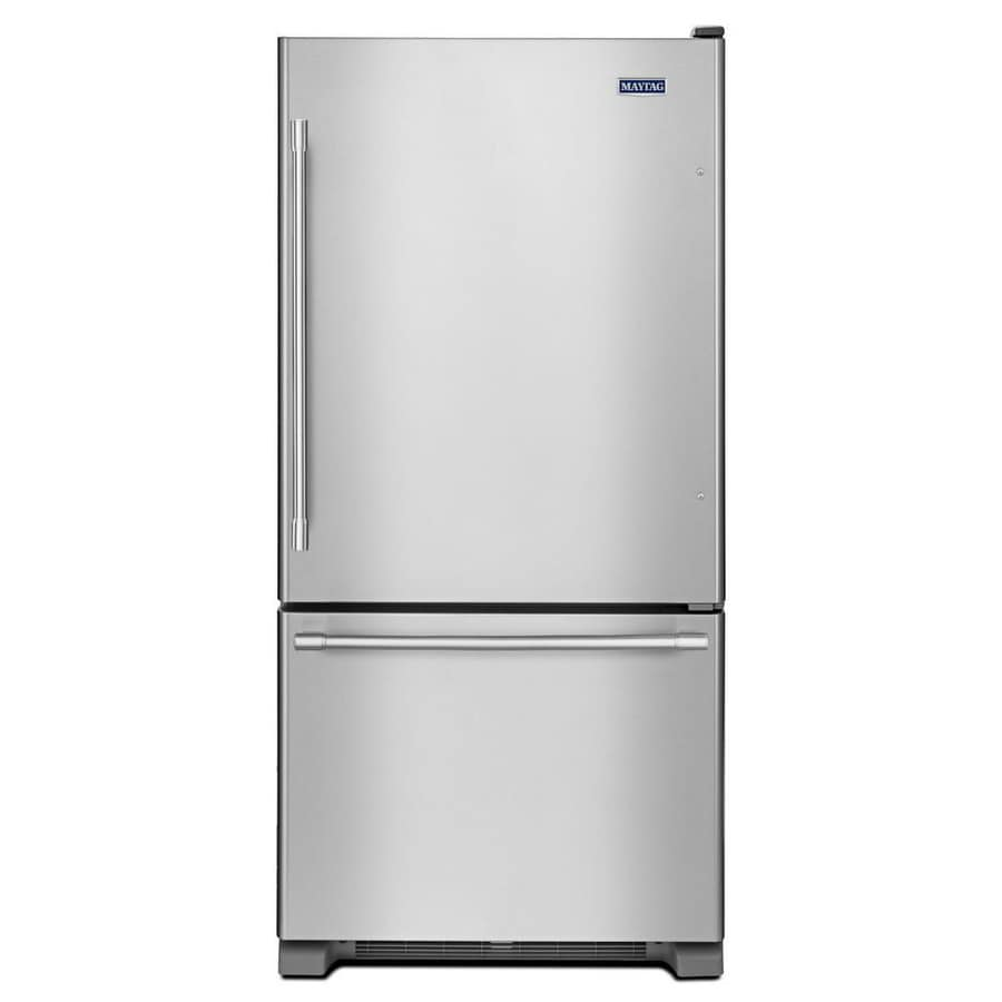 shop maytag 22 1 cu ft bottom freezer refrigerator with. Black Bedroom Furniture Sets. Home Design Ideas