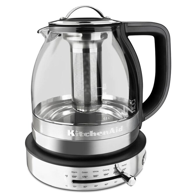 KitchenAid Silver 24-Cup Digital Electric Kettle in the Water Boilers &  Kettles department at Lowes.com