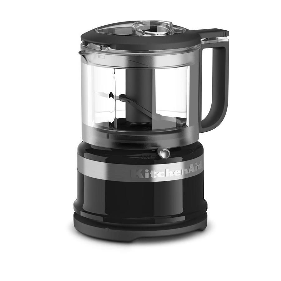 shop kitchenaid 3 5 cup onyx black 1 blade mini food chopper at. Black Bedroom Furniture Sets. Home Design Ideas