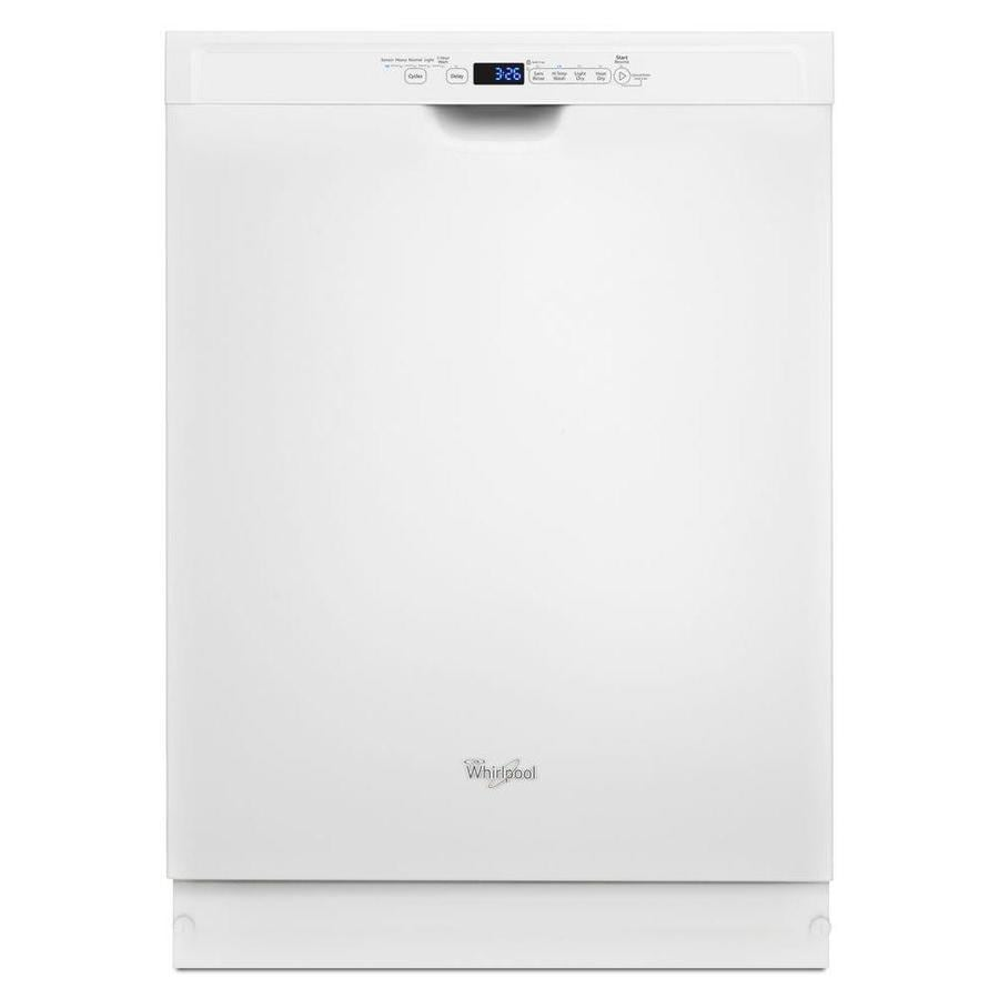 Shop Whirlpool 24-in White Dishwasher With Stainless Steel