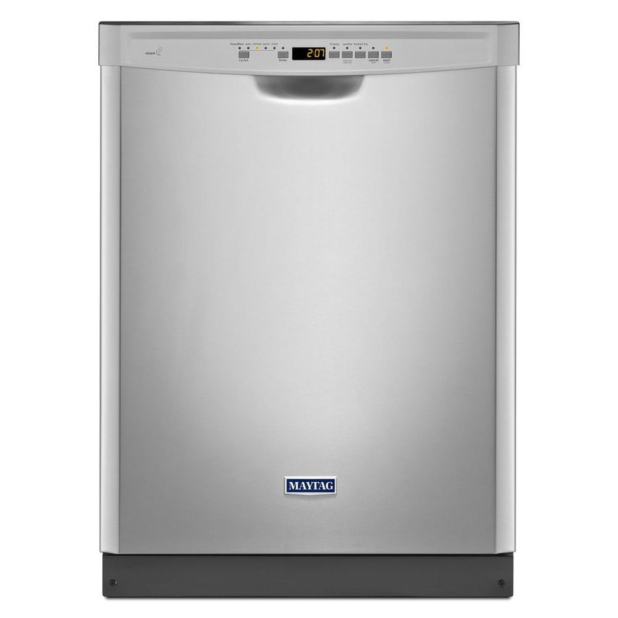 Maytag 50-Decibel Built-In Dishwasher and Hard Food Disposer (Fingerprint-Resistant Stainless Steel) (Common: 24 Inch; Actual: 23.875-in) ENERGY STAR