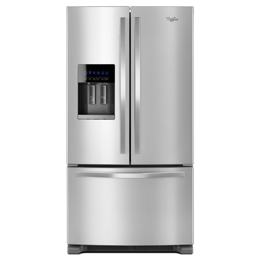 shop whirlpool 24 7 cu ft french door refrigerator with. Black Bedroom Furniture Sets. Home Design Ideas