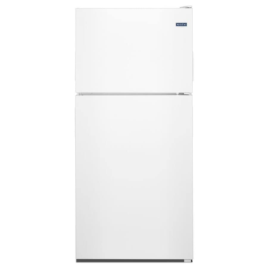 Maytag 18 2 Cu Ft Top Freezer Refrigerator White At