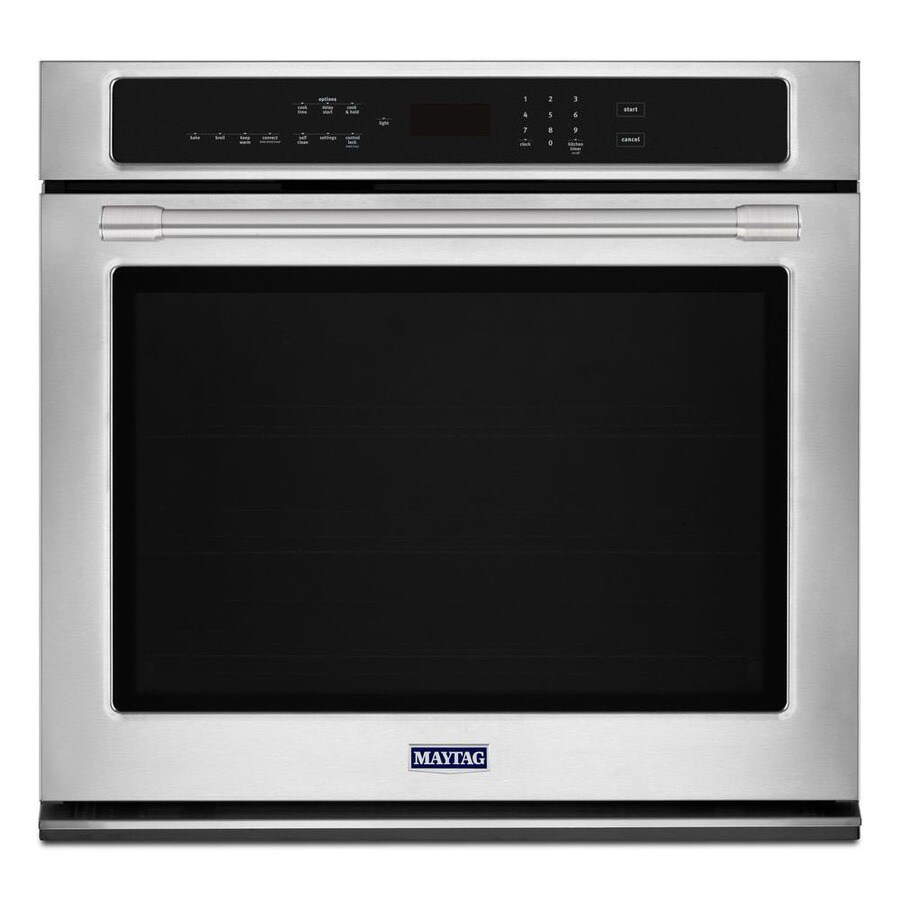 Maytag Convection Self-Cleaning Electric Wall Oven (Fingerprint Resistant Stainless Steel) (Common: 30-in; Actual 30-in)