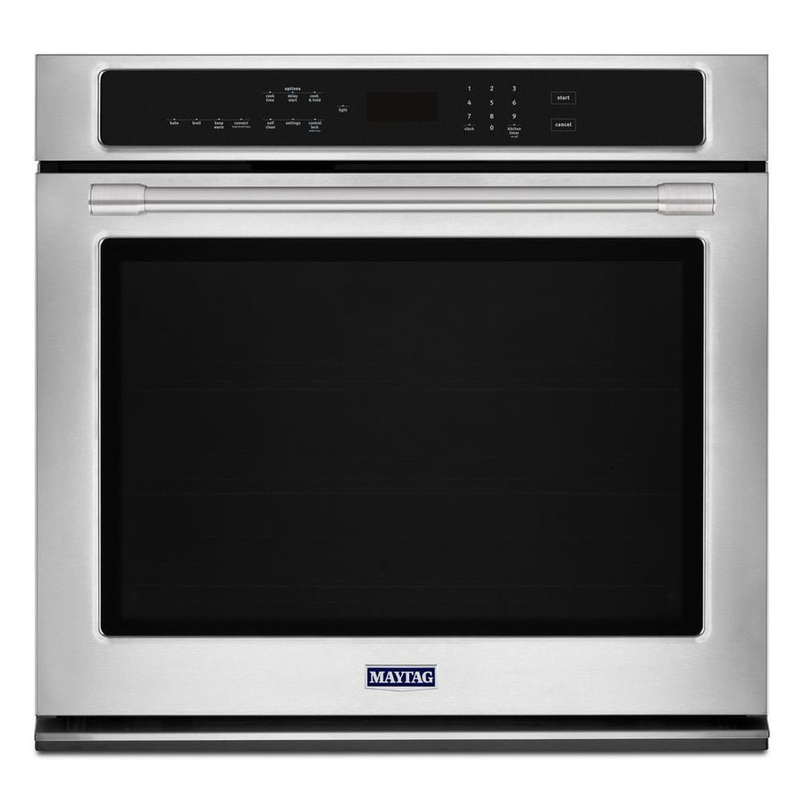 Maytag Self-cleaning Convection Single Electric Wall Oven (Fingerprint-Resistant) (Common: 27-in; Actual 27-in)