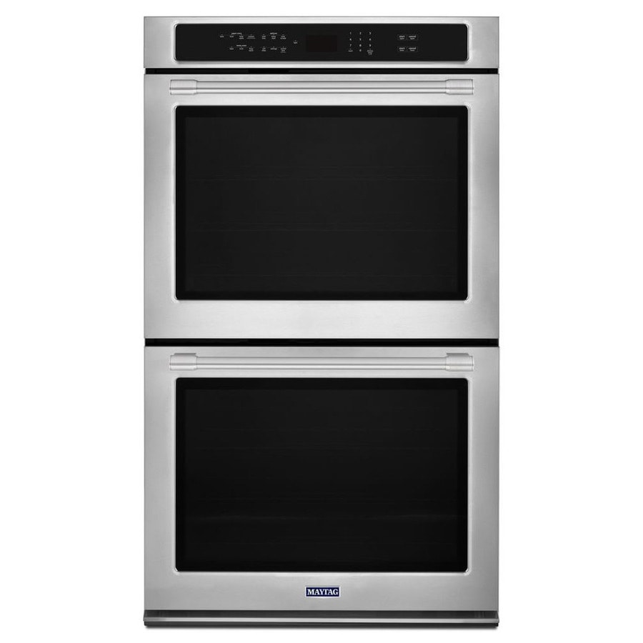 Maytag Convection Self-Cleaning Double Electric Wall Oven (Fingerprint Resistant Stainless Steel) (Common: 27-in; Actual: 27-in)