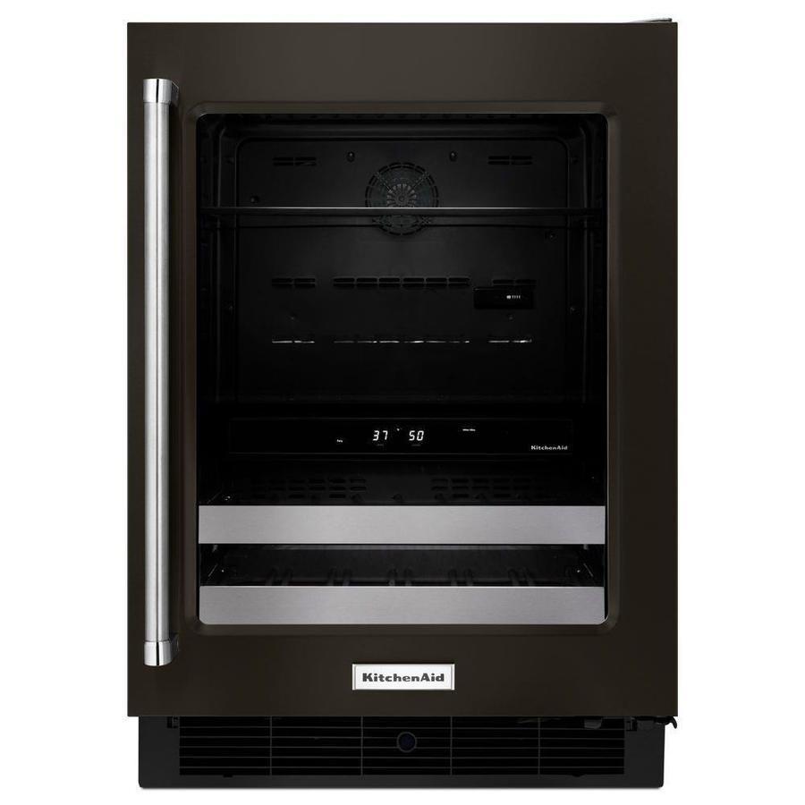 KitchenAid 4.8-cu ft Black Stainless Built-In/Freestanding Beverage Center