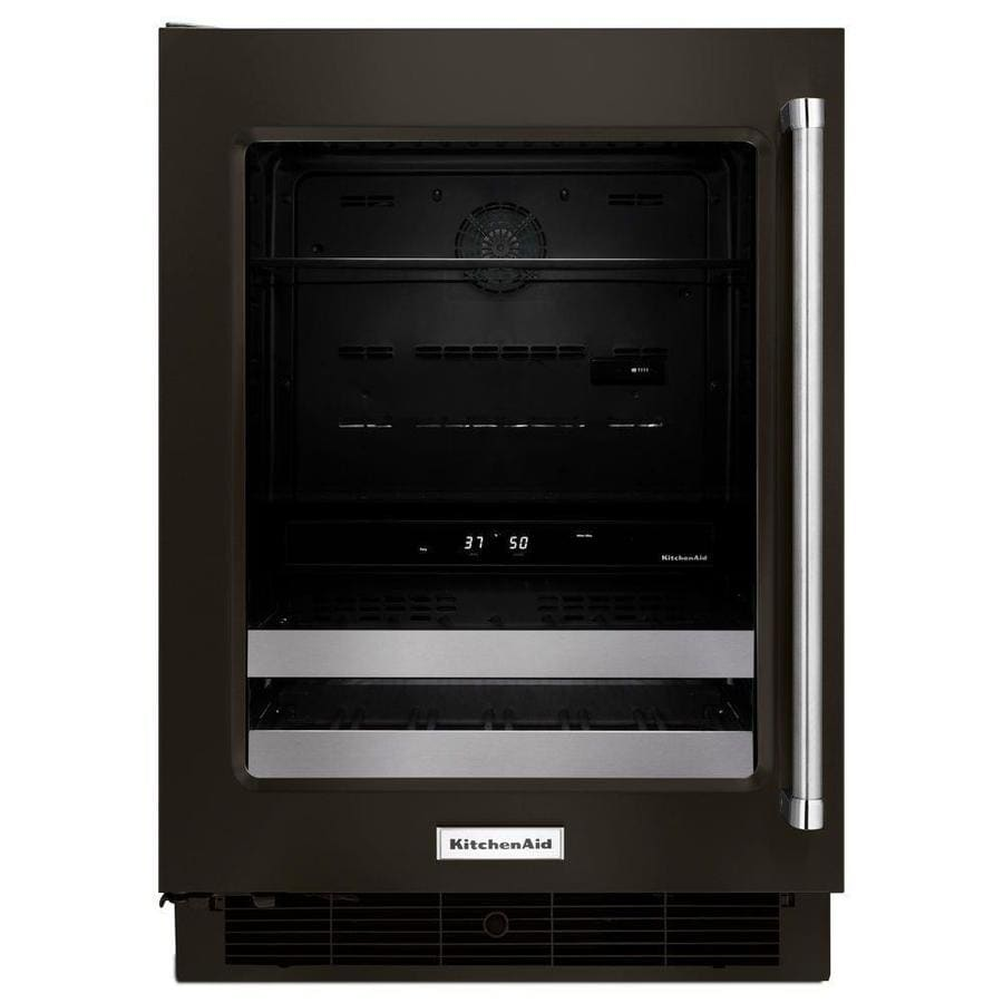 KitchenAid 4.8-cu ft Black Stainless Built-In/Freestanding Beverage Center