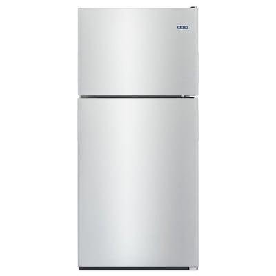 20 5 Cu Ft Top Freezer Refrigerator Monochromatic Stainless Steel