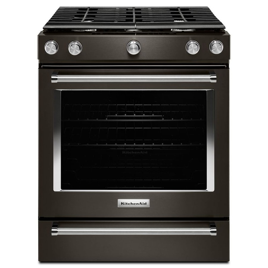 KitchenAid 5 Burner 5.8 Cu Ft Self Cleaning Slide In Convection Gas