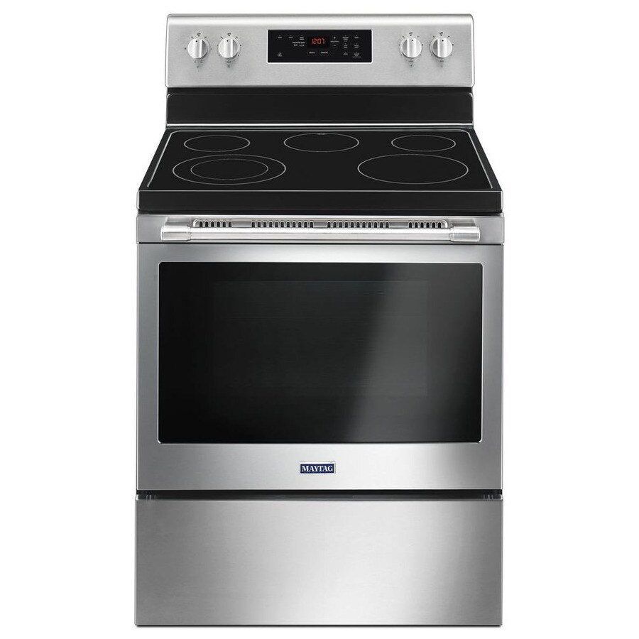 Maytag Smooth Surface 5 Element 3 Cu Ft Self Cleaning Freestanding Electric Range