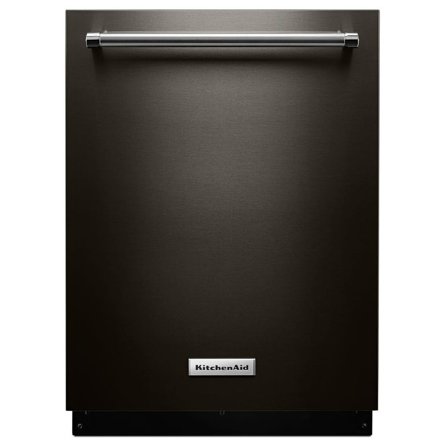 Kitchenaid Bold Black Stainless: Shop KitchenAid 46-Decibel Built-in Dishwasher (Black