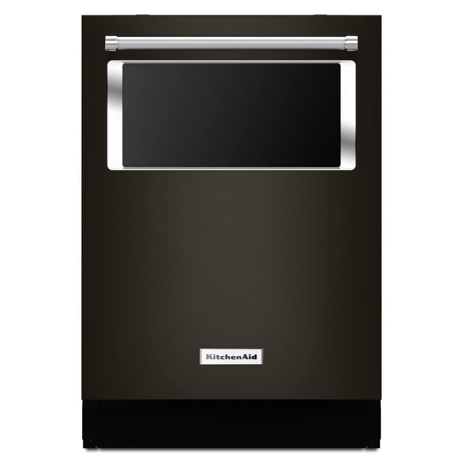 KitchenAid 44-Decibel Built-in Dishwasher (Black Stainless Steel) (Common: 24-in; Actual: 23.875-in) ENERGY STAR