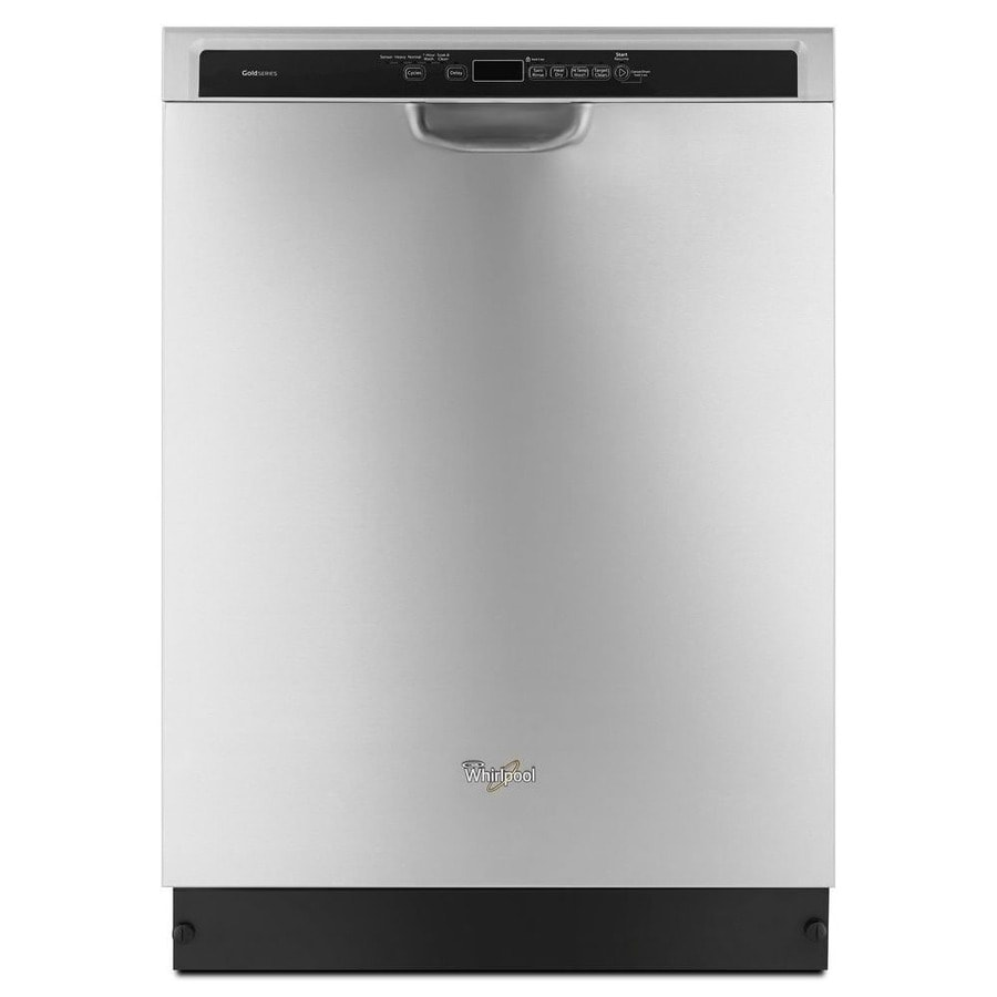 Whirlpool 49-Decibel Built-In Dishwasher (Fingerprint-Resistant Stainless Steel) (Common: 24-in; Actual: 23.875-in) ENERGY STAR