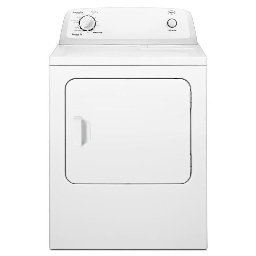 883049414768 shop roper 6 5 cu ft electric dryer (white) at lowes com  at bakdesigns.co