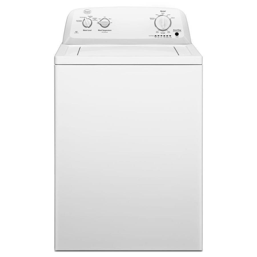 Roper 3 5 Cu Ft High Efficiency Top Load Washer With Agitator White