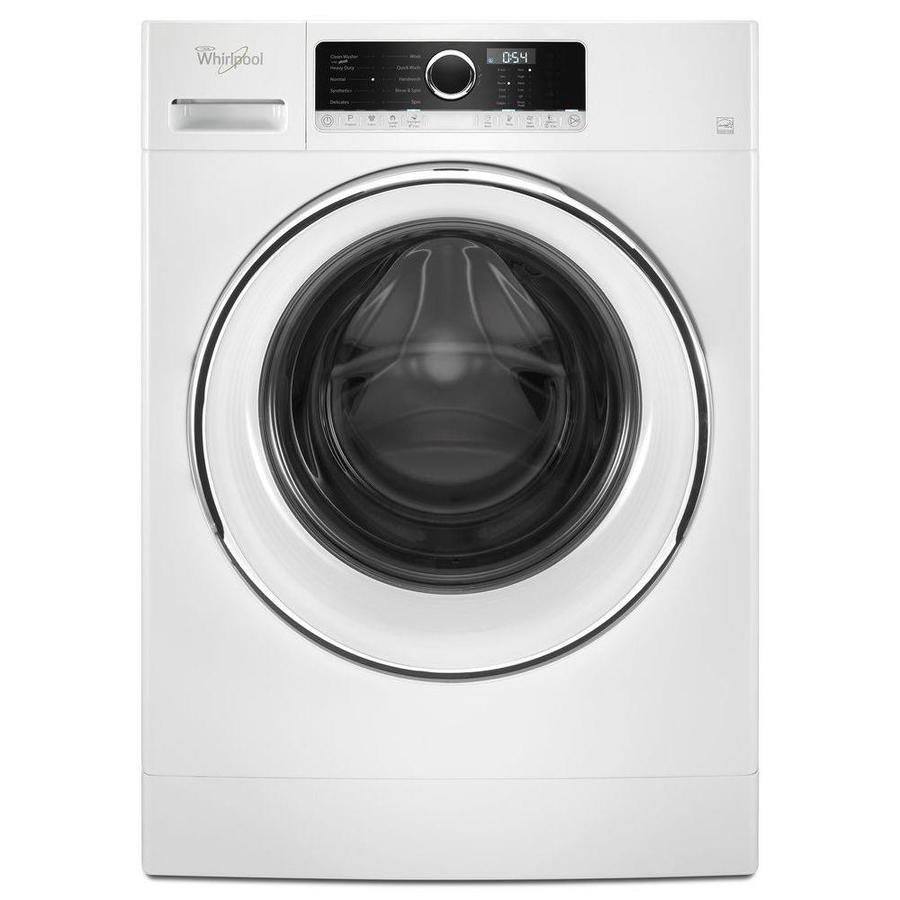 whirlpool 23cu ft stackable frontload washer white
