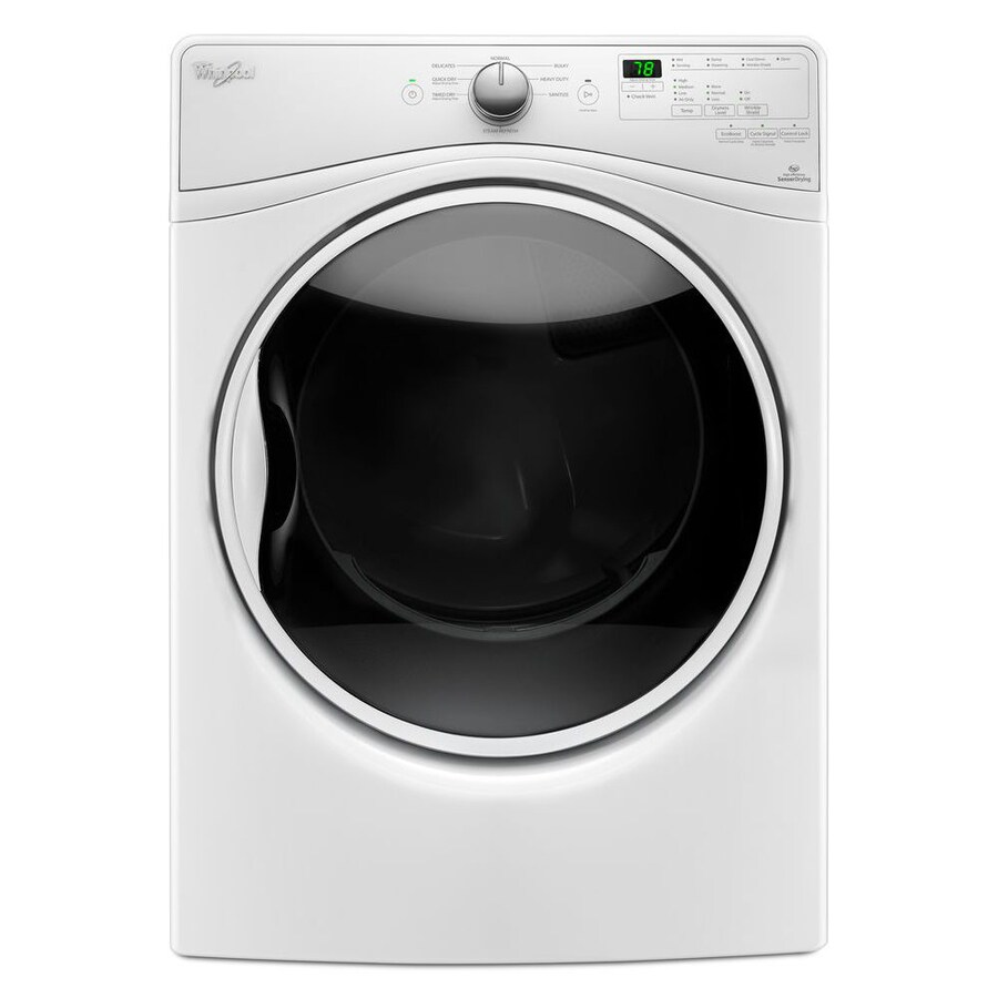 Whirlpool 7.4-cu ft Stackable Electric Dryer with Steam Cycle (White) ENERGY STAR