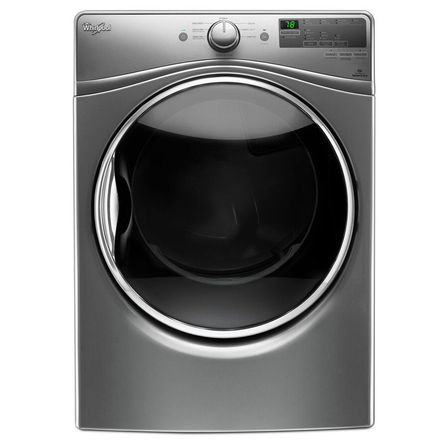 Whirlpool 7.4-cu ft Stackable Electric Dryer (Chrome Shadow) ENERGY STAR