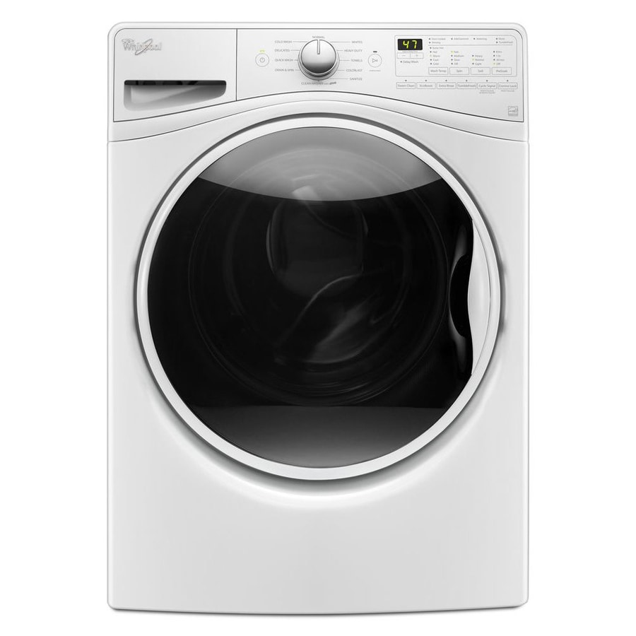 shop whirlpool 4 5 cu ft high efficiency stackable front load washer white energy star at. Black Bedroom Furniture Sets. Home Design Ideas