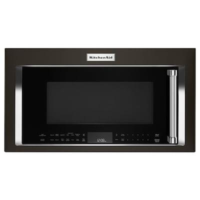 1 9 Cu Ft Over The Range Convection Microwave With Sensor Cooking Fingerprint Resistant Black Stainless Printshield