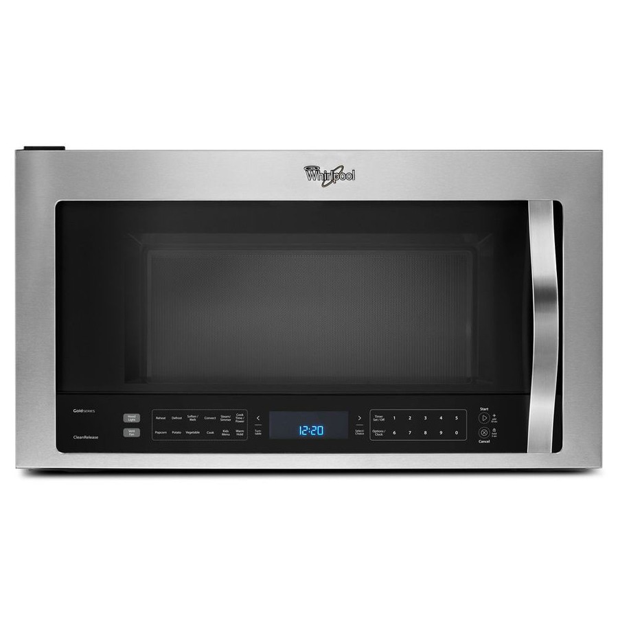 Whirlpool 1 9 Cu Ft Over The Range Convection Microwave With Sensor Cooking