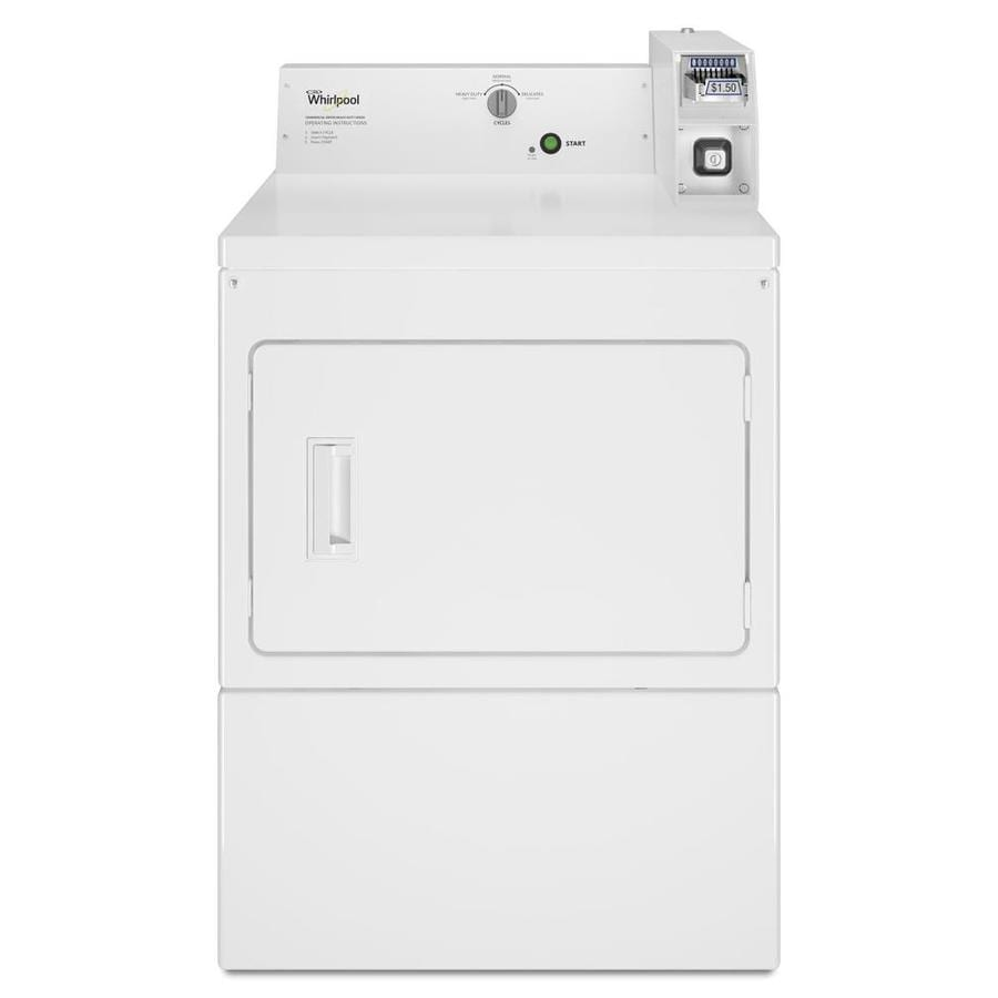 Whirlpool Commercial 7.4-cu ft Coin-Operated Gas Commercial Dryer (White)