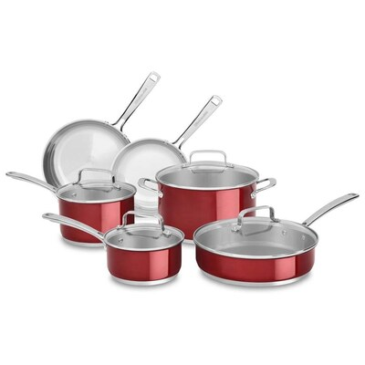 14.2-in Stainless Steel Cookware Set Lid(s) Included