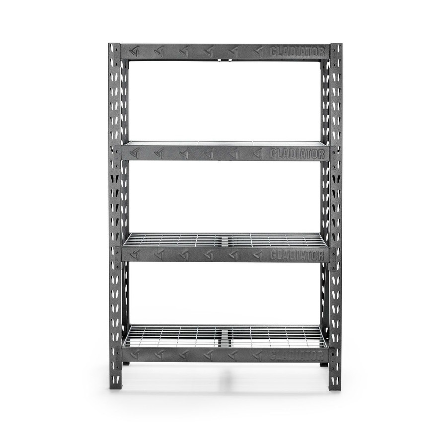 Shop Gladiator 72-in H X 48-in W X 18-in D 4-Tier Steel