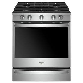 Whirlpool Smart 5 Burner 8 Cu Ft Self Cleaning Convection Slide In