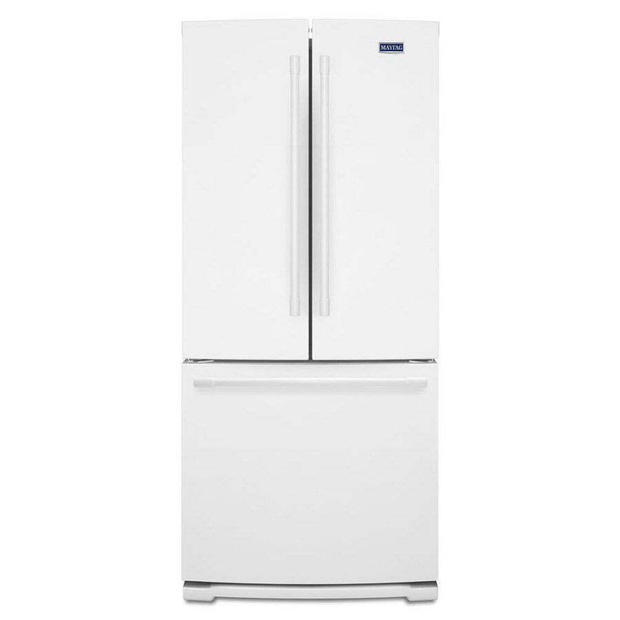 Shop maytag 197 cu ft french door refrigerator with ice maker maytag 197 cu ft french door refrigerator with ice maker white rubansaba