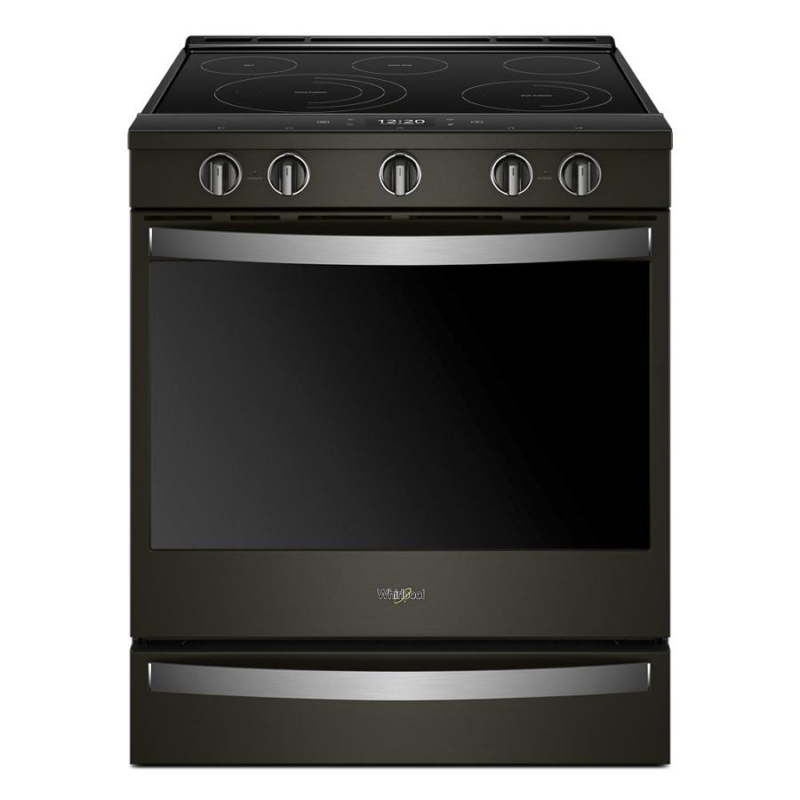Electric Range Smooth Top Cooking Surface Summit On In: Whirlpool Smooth Surface 5-Element Self-Cleaning Slide-in