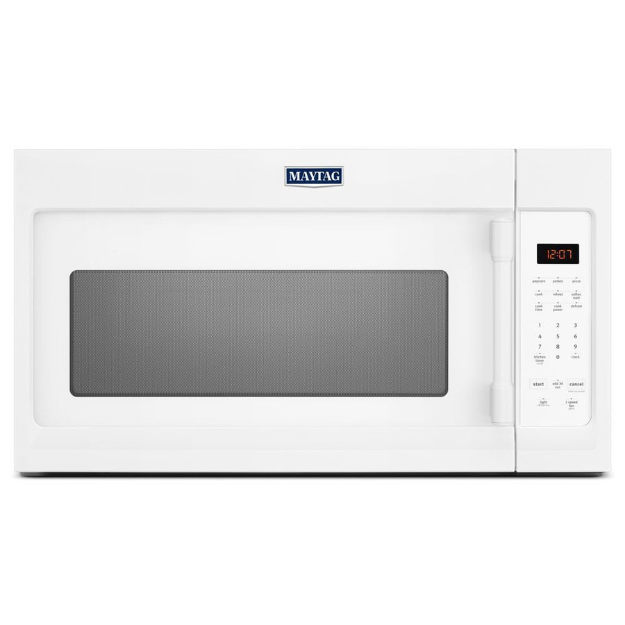 Maytag 1.7-cu ft Over-the-Range Microwave (White) (Common: 30-in; Actual: 29.875-in)