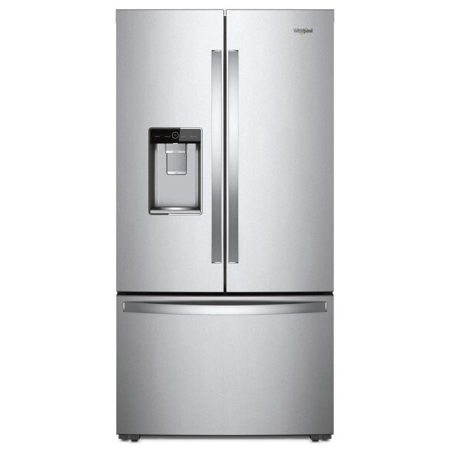 Shop Kitchenaid 23 8 Cu Ft Counter Depth French Door: Whirlpool 23.8-cu Ft Counter-Depth French Door Refrigerator With Ice Maker (Stainless Steel