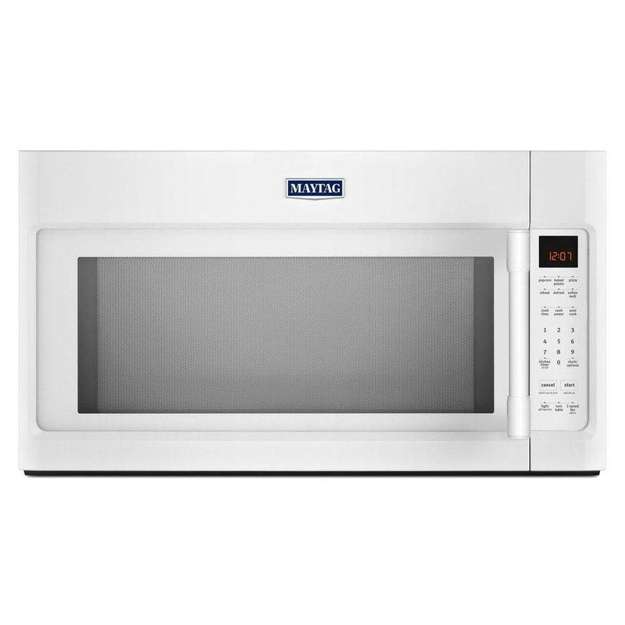 Maytag 2-cu ft Over-the-Range Microwave with Sensor Cooking Controls (White) (Common: 30-in; Actual: 29.88-in)