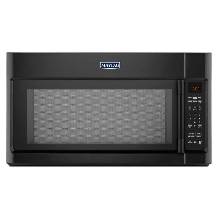 Maytag 2-cu ft Over-The-Range Microwave with Sensor Cooking Controls (Black) (Common: 30-in; Actual: 29.875-in)