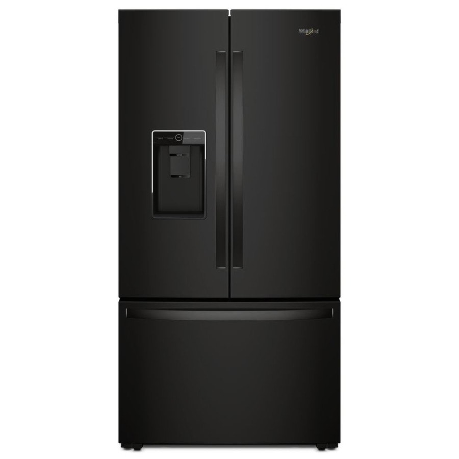 Shop Kitchenaid 23 8 Cu Ft Counter Depth French Door: Shop Whirlpool 23.8-cu Ft Counter-Depth French Door Refrigerator With Ice Maker (Black) ENERGY