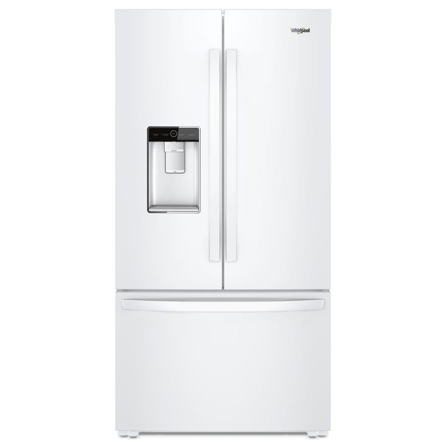 Shop Kitchenaid 23 8 Cu Ft Counter Depth French Door: Shop Whirlpool 23.8-cu Ft Counter-Depth French Door Refrigerator With Ice Maker (White) ENERGY