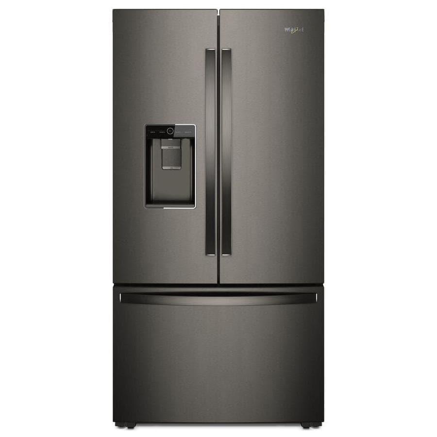 Whirlpool French Door Counter Depth Refrigerator: Shop Whirlpool 23.6-cu Ft Counter-Depth French Door