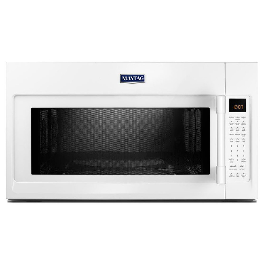 Maytag 1.9-cu ft Over-the-Range Convection Microwave with Sensor Cooking Controls (White) (Common: 30-in; Actual: 29.88-in)