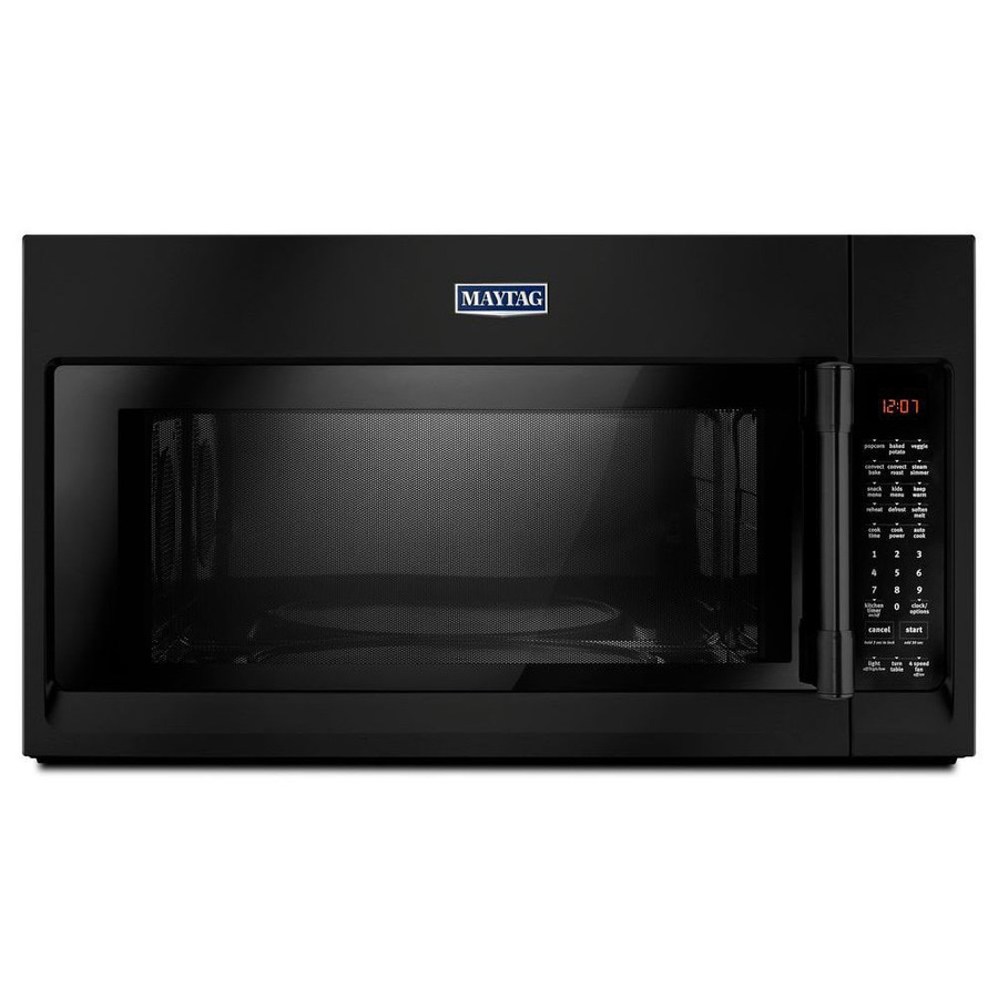 Maytag 1.9-cu ft Over-the-Range Convection Microwave with Sensor Cooking Controls (Black) (Common: 30-in; Actual: 29.88-in)