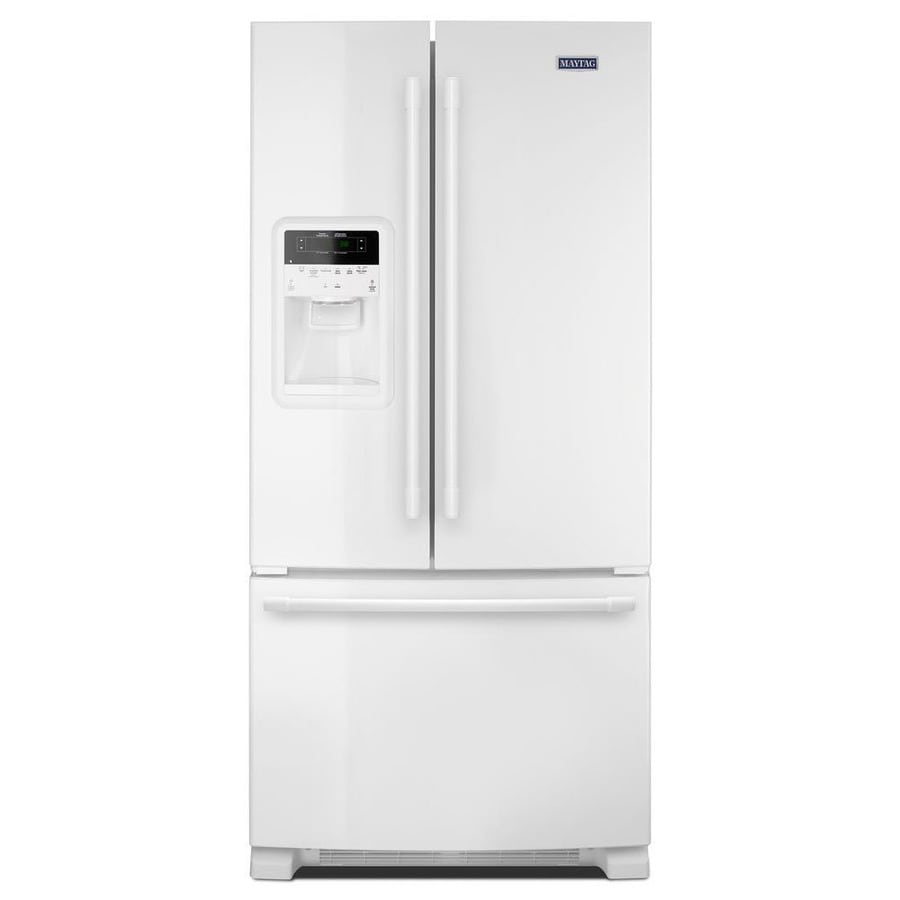 Maytag 21.7-cu ft French Door Refrigerator with Ice Maker (White)