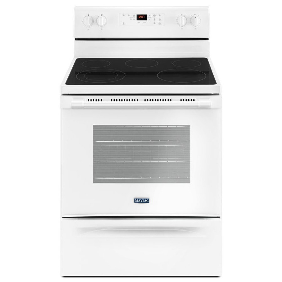Maytag Microwave Not Heating Up Beeping: Maytag Smooth Surface Freestanding 5-Element 5.3-cu Ft