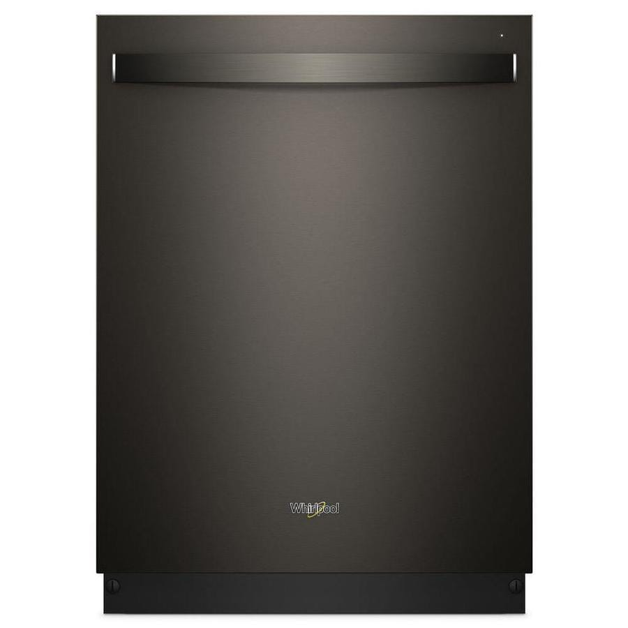 Whirlpool 47-Decibel Built-In Dishwasher (Black Stainless Steel) (Common: 24-in; Actual: 23.875-in) ENERGY STAR