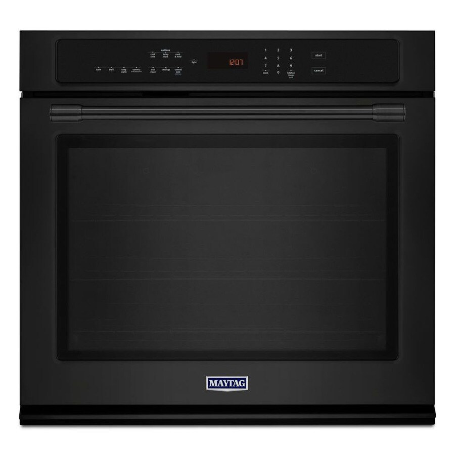 Maytag Self-cleaning Convection Single Electric Wall Oven (Black) (Common: 30-in; Actual 30-in)