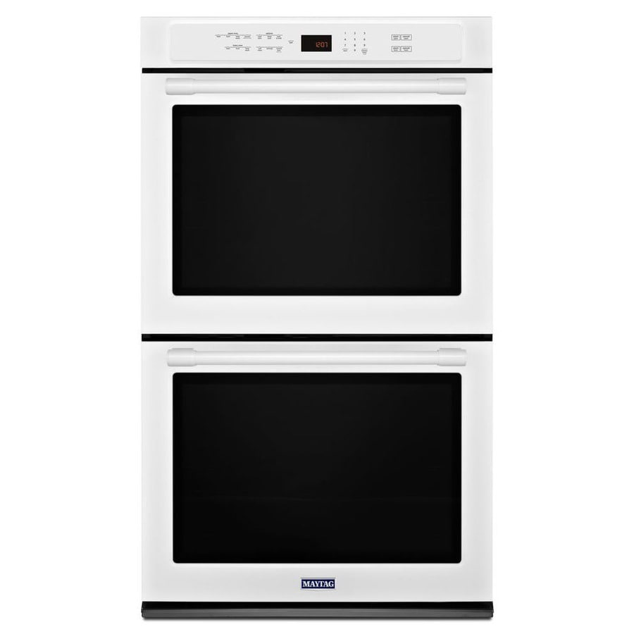 Maytag Convection Double Electric Wall Oven (White) (Common: 30-in; Actual: 30-in)