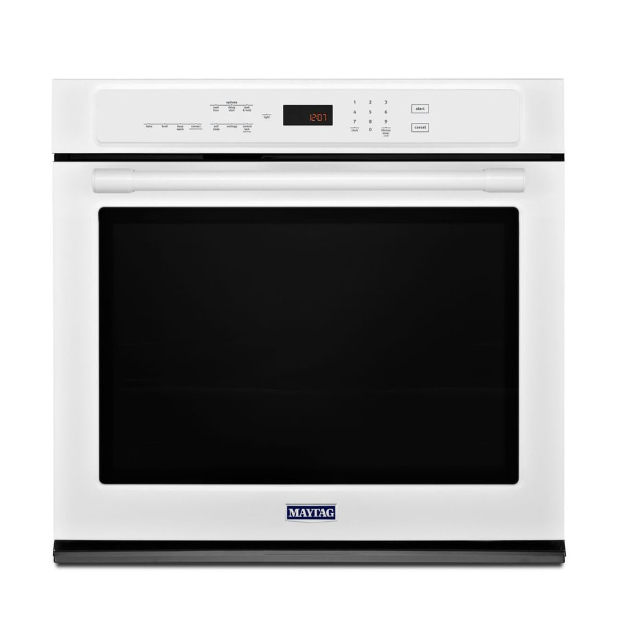 Maytag Self-Cleaning Convection Single Electric Wall Oven (White) (Common: 27-in; Actual 27-in)